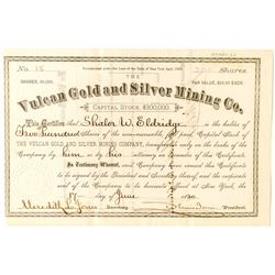 Vulcan Gold and Silver Mining Stock, Ouray- 1880