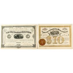 Two Rosita Mining Stock Certificates
