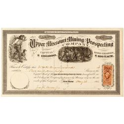 Upper Missouri Mining and Prospecting Co. Stock Certificate