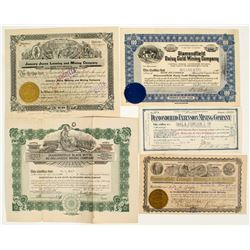 Diamondfield, Nevada Mining Stock Certificates