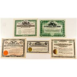 Nice Group of Ely & Pioche Mining Stock Certificates
