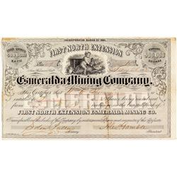 Very Early, Territorial, First North Extension Stock Certificate