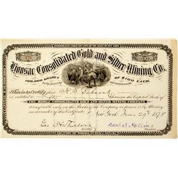 Hoosac Consolidated Gold & Silver Mining Co. Stock Certificate