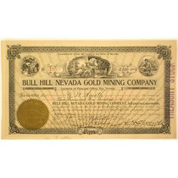 Bull Hill Nevada Gold Minngn Company Stock Certificate