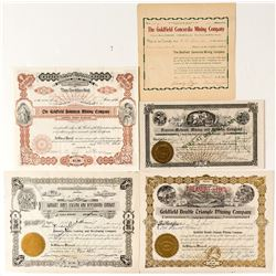 Five Scarce Goldfield, Nevada Stocks