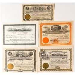 Five Scarce Goldfield, Nevada Stocks- Second Group