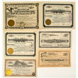 "Goldfield Mining Stock Certificate Collection: ""Extension"" Mines"