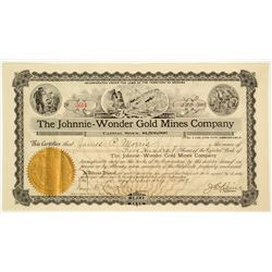 The Johnnie-Wonder Gold Mines Company Stock Certificate