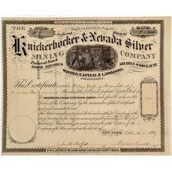 Knickerbocker & Nevada Silver Mining Co. Stock Certificate (1867)