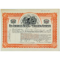 Pan-American Mining & Smelting Company Stock Certificate