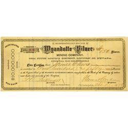 Wyandotte Silver Mining Company Stock Certificate