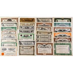 """Collection of """"Divide"""" Mining Stock Certificates"""