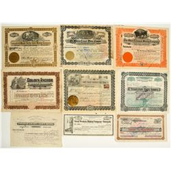 Collection of Pre-1907 Tonopah Mining Stock Certificates incl. Butler Autograph