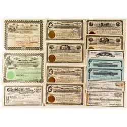 Tonopah Mining Stock Certificate Collection
