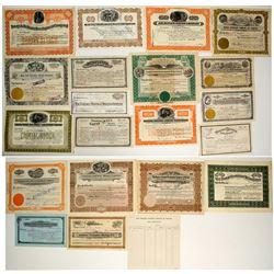 Tonopah, Nevada Mining Stock Certificate Collection