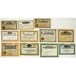 Tonopah, Nevada Mining Stock Certificate Collection plus Railroad
