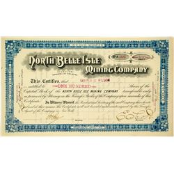 North Belle Isle Mining Company Stock Certificate