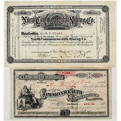 Two Tuscarora, Nevada Mining Stock Certificates