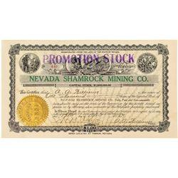 Nevada Shamrock Mining Company Stock Certificate