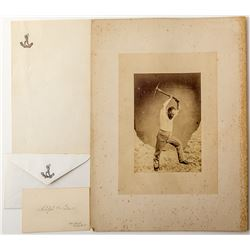 Adolph Sutro Photo and Silver Foil Stationary