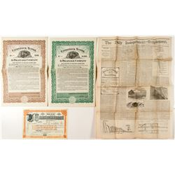 Four Comstock Tunnel Co. (Sutro) Documents