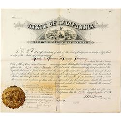 Charter for the Hale & Norcoss Mining Company (Comstock Lode)