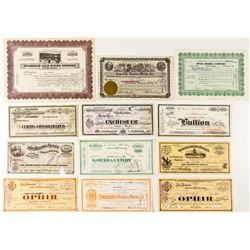 Comstock Mining Stock Certificate Group