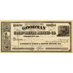 Goodman Gold & Silver Mining Co. Stock Certificate