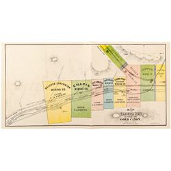 GT Brown Color Map of the Gold Canon Mining District (Comstock Lode)