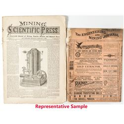 Four Mining Journals with Comstock Information