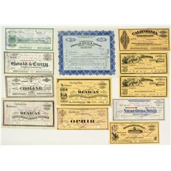 Mainstream Comstock Mining Stock Certificate Collection