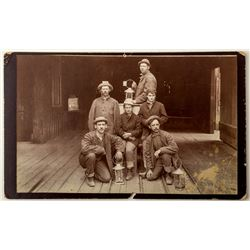 Mining Photograph of Four Men and Two Women