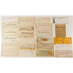 Virginia City Check Collection
