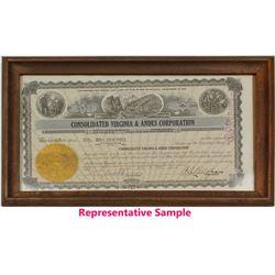 Virginia & Andes Corporation Stock Certificates