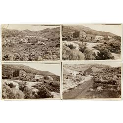 Four Nevada Mining Town Scene Real Photo Postcards