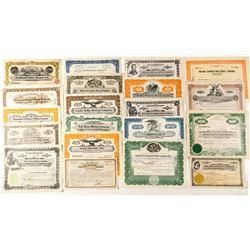 20 Different Nevada Mining Stock Certificates
