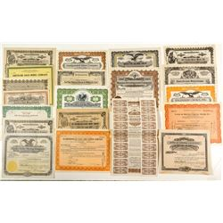Second Group of 20 Different Nevada Mining Stock Certificates