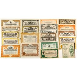 Third Group of 20 Different Nevada Mining Stock Certificates