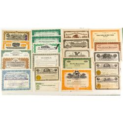 Fourth Group of 20 Different Nevada Mining Stock Certificates
