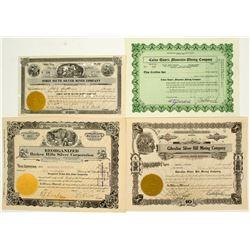 Central Nevada Mining Stock Certificates