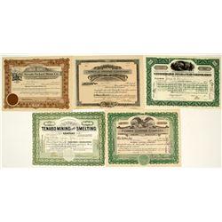 Eastern Nevada Mining Stock Certificates