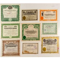 Nevada Mining Stock Certificates (9)