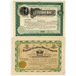 Nevada Mining Stock Certificates: Rawhide & Bovard