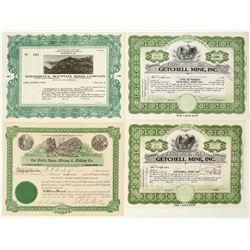 Nevada Mining Stock Certificates: Rye Patch, Getchell, Winnemucca