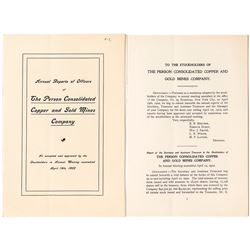 Annual Report of The Person Cons. Copper & Gold Mines Co.