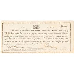 Very Early Tennessee Stock Certificate