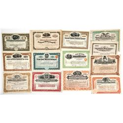 Thirteen Bingham, Utah Mining Stock Certificates
