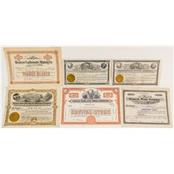 Six More Different Utah Mining Stock Certificates