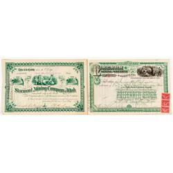 Two Good Utah Mining Stock Certificates