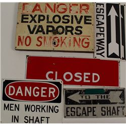 Six Metal Mining Signs